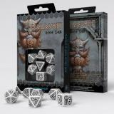 Набор кубиков Dwarven White & black Dice Set