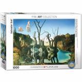 Пазл Eurographics Лебеди, отражающиеся в слонах. Сальвадор Дали. 1000 элементов