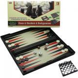 Игровой набор магнитный 3 в1 (шахматы,шашки,нарды)(32х32х2 см) (4850)