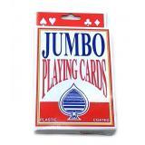 Карты игральные пластиковое покрытие (9,5х12,5х2 см) JUMBO