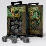 Набор кубиков Celtic 3D Revised Gray & black Dice Set