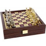 Шахматы Manopoulos Византийская империя в деревянном футляре 20 х 20 см (SK1RED)