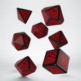 Набор кубиков Dwarven Black & red Dice Set