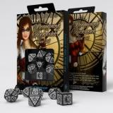 Набор кубиков Steampunk Clockwork Black & white Dice Set