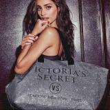 Сумка пляжная / спортивная / дорожная Виктория Сикрет (Victoria's Secret) Limited edition silver tote VS22