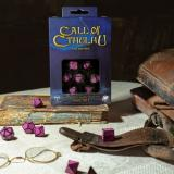 Набор кубиков Call of Cthulhu 7th Edition Black & magenta Dice Set