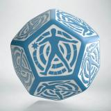 D12 Кубик Blue & white Hit Location die