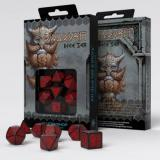 Набор кубиков Dwarven Black & red Dice Set