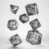 Набор кубиков Elvish Translucent & black Dice Set