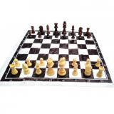Шахматы дорожные в блистере (h фигур 4-8.5 см ,d-2.5-3.5 см)P305