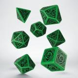 Набор кубиков Celtic 3D Revised Green & black Dice Set