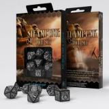 Набор кубиков Steampunk Black & white Dice Set