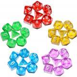 Набор прозрачных кубиков RPG 7 шт (цвет в ассортименте)