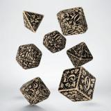 Набор кубиков Forest 3D Beige & black Dice Set