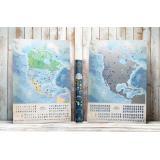 Светящаяся cкретч карта Северной Америки My Map North America edition