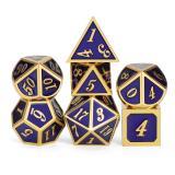 Набор металлических кубиков RPG 7 шт (объёмные, цветные) + ПОДАРОК