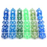 Набор блестящих кубиков RPG 7 шт (цвет в ассортименте)