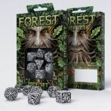 Набор кубиков Forest 3D White & black Dice Set