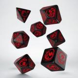 Набор кубиков Dragons Black & red