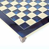 Шахматы Manopoulos Лучники в деревянном футляре 28х28 см Синие (S15BLU)