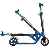 Самокат GLOBBER серии ONE NL 205 DELUXE, черно-синий, до 100кг, от 1.55м, 2 колеса