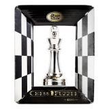 Металлическая головоломка Король   Chess Puzzles silver