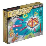 Geomag Color GLITTER 44 детали | Магнитный конструктор Геомаг