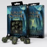 Набор кубиков Call of Cthulhu Black & glow-in-the-dark Dice set