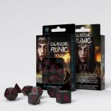 Набор кубиков Classic Runic Black & red Dice Set