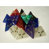 Кубик D4 перламутровый/мраморный (цвет в ассортименте)