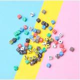 Кубик D6 с точками (цвет в ассортименте)
