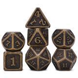 Набор металлических кубиков Ancient magic RPG 7 шт + ПОДАРОК