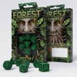 Набор кубиков Forest 3D Green & black Dice Set