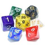 Набор перламутровых/мраморных кубиков Multi Color  RPG 7 шт