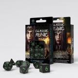 Набор кубиков Classic Runic Black & green