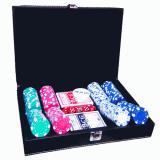 Набор для покера на 200 фишек в кожаном кейсе без номинала
