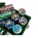 Покерный набор в алюминиевом кейсе на 300 фишек, номинал 1-100, 11,5гр. (арт. 23726-CG11300)
