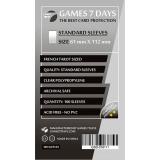 Протекторы для карт Games7Days (61 х 112 мм, French Tarot, 100 шт.) (STANDART)