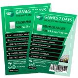 Протекторы для карт Games7Days (63,5 х 88 мм, Card Game, 50 шт.) (PREMIUM)