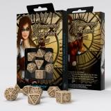 Набор кубиков Steampunk Clockwork Beige & brown Dice Set