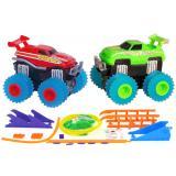 Машинки на бат. Trix Trux набор 2 машинки с трассой (красный+зеленый) CBGames