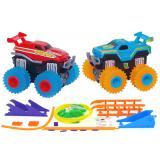 Машинки на бат. Trix Trux набор 2 машинки с трассой (красный+синий) CBGames