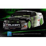 Автомобиль HPI E10 2011 Falken Monster Mustang 1:10 дрифт 4WD электро 2.4ГГц RTR