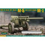 Американская 3 дюймовая противотанковая пушка М-5 на лафете от M-1 (ACE72528) Масштаб:  1:72