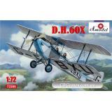 Биплан de Havilland DH.60C Cirrus Moth (AMO72285) Масштаб:  1:72