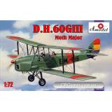 Биплан de Havilland DH.60GIII Moth Major (AMO72283) Масштаб:  1:72