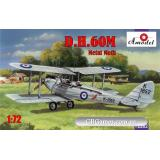 Биплан de Havilland DH.60M Metal Moth (AMO72282) Масштаб:  1:72