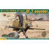 Британская 40мм противотанковая пушка QF 2 pounder (ACE72504) Масштаб:  1:72