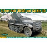 Бронетранспортёр 37mm PaK 35/36 auf Sd.Kfz 10 (ACE72281) Масштаб:  1:72