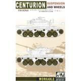 CENTURION SUS. & WHEELS (WORKABLE) (AF35101) Масштаб:  1:35